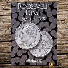Roosevelt Dime 1965-1999 H.E Harris /& Co Completed coin album 68 Dimes