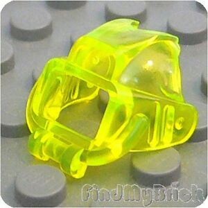 G047A Lego Minifigure Helmet Underwater Visor - Trans-Neon Green 6199 NEW