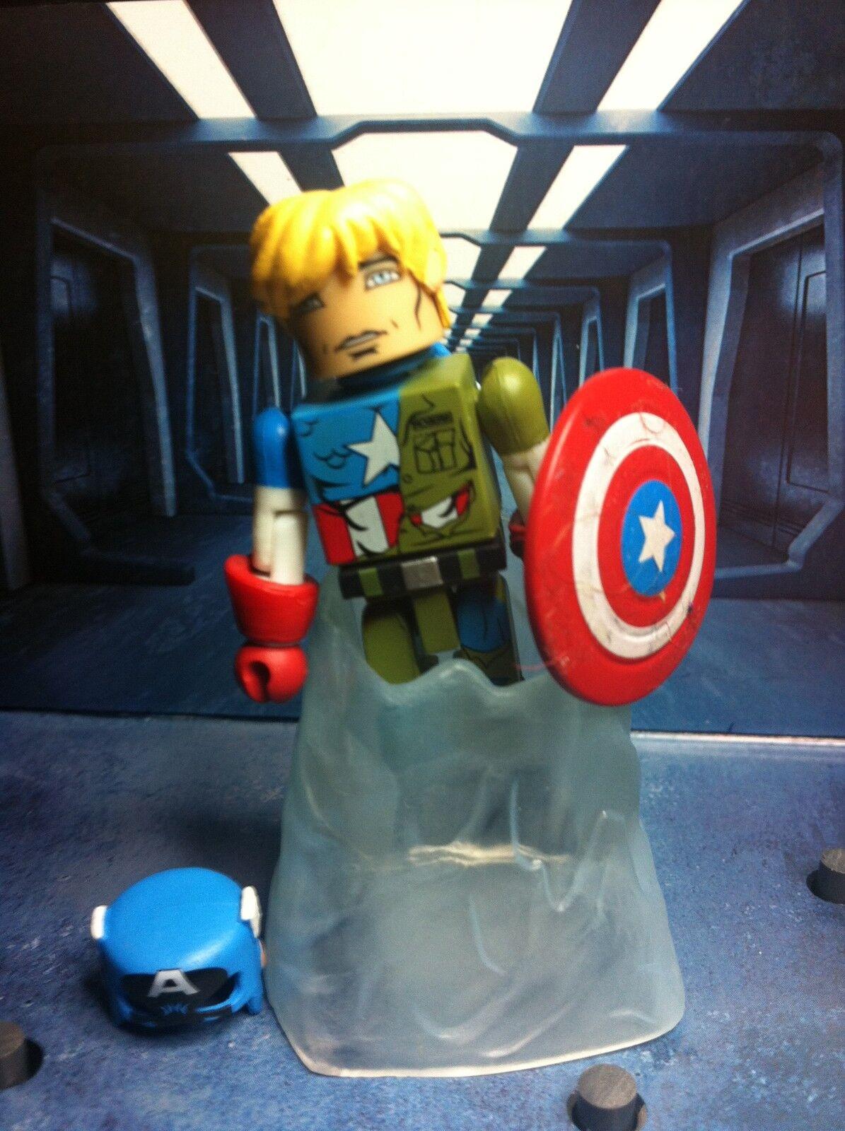 Marvel Minimates SUSPENDED ANIMATION CAPTAIN AMERICA Through The Ages Box set