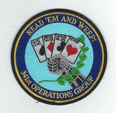 USAF 341st MISSILE WING UH-1 MALMSTROM DOD EMERGENCY WAR ORDER PLANNING PATCH