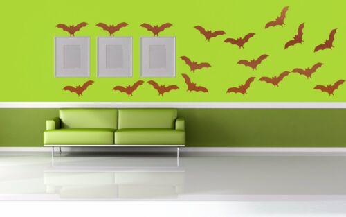 Halloween Bat Waterproof Home Wall Bathroom window Room Vinyl Decal Sticker