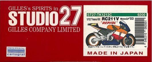 Studio27 1 12 Trans Kit 1 12 Honda Rc 211v  Repsol  Moto '03