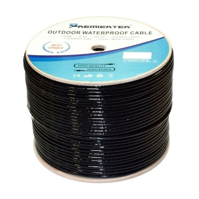 150Ft CAT6E 550MHZ 100/% COPPER 23AWG Outdoor Direct Burial Cable cord waterproof