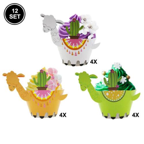 12pcs Tiere Papier Cupcake Wrapper Backförmchen Dekorieren Tools Cake Tools DIY