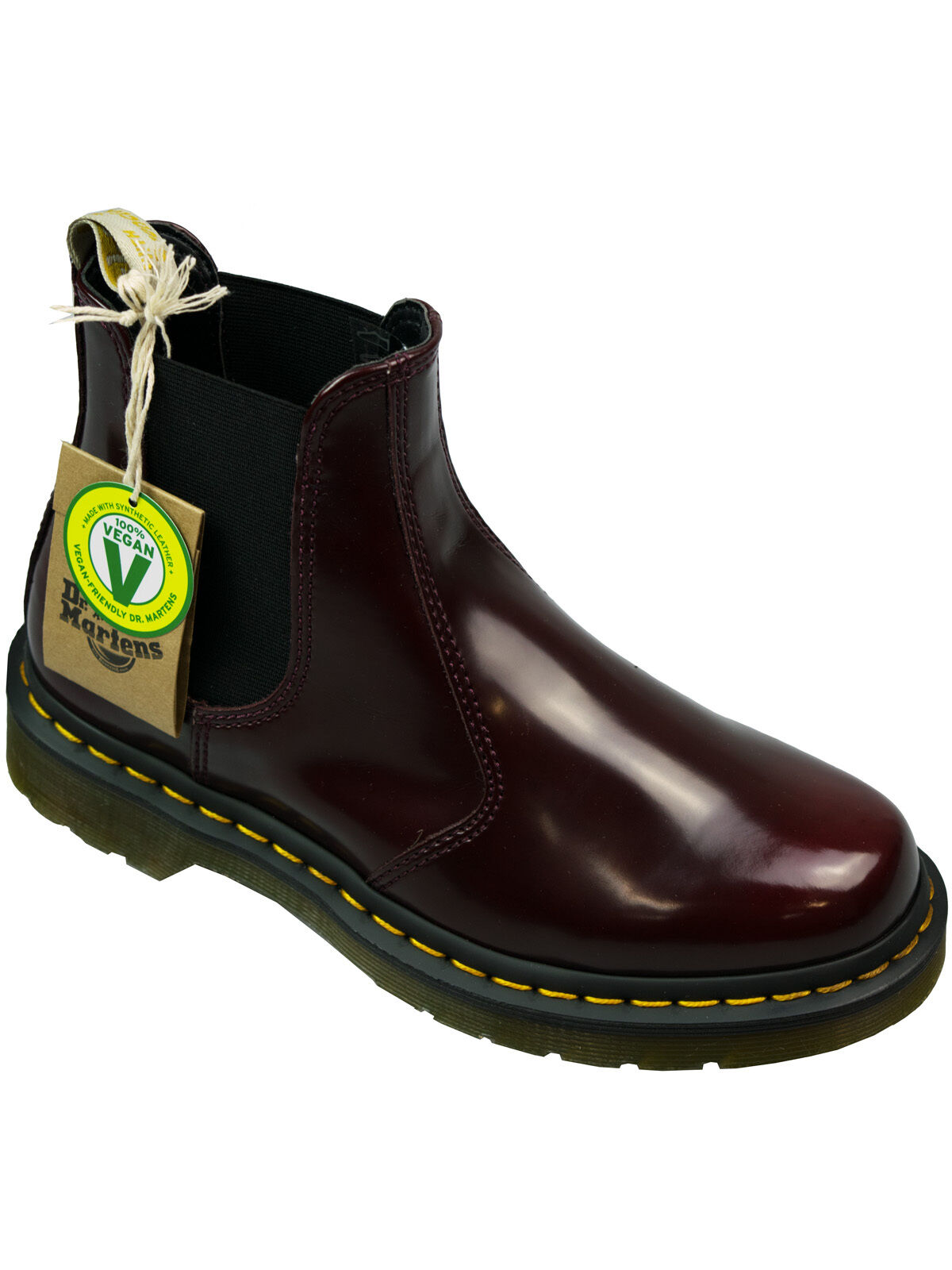 Dr. Martens Doc Stiefel Damen Boot Chelsea Boot 2976 Vegan Cherry Red #5097