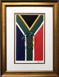 LeRoy-Neiman-034-President-Nelson-Mandela-034-CUSTOM-FRAMED-ART-South-Africa-African