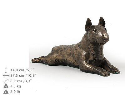 100% QualitäT Bull Terrier (lying), Holz Statuette, Bronze, Artdog, De Verpackung Der Nominierten Marke