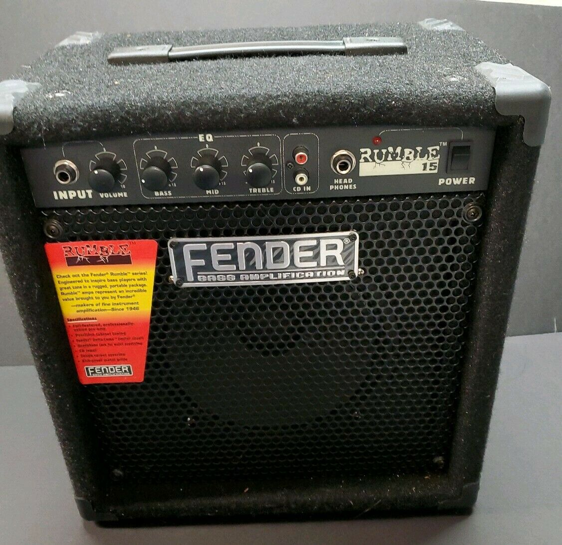 Fender Rumble 15 Model 497- Bass Amplifier Lightly Used  Sticker Still Affixed