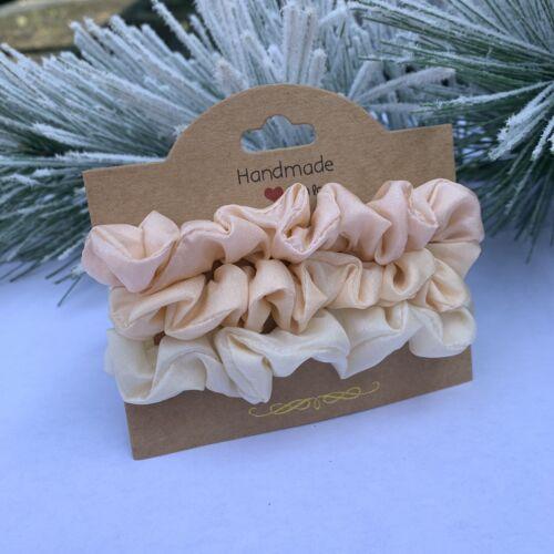 Pack Scrunchies 100/% Silk Pure Silk 3