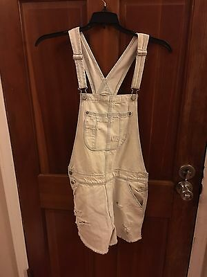 America Eagle Overalls Women's Size Small White Washed Jeans NWT