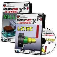 MASTERCAM X8-X9 FOR SOLIDWORKS - MILL & LATHE Video Tutorial Training Bundle