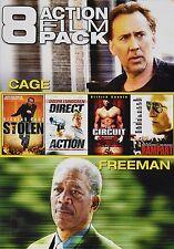 8 Action Film Pack (DVD, 2014, 2-Disc Set) Cage, Stallone, Freeman *FREE Ship*