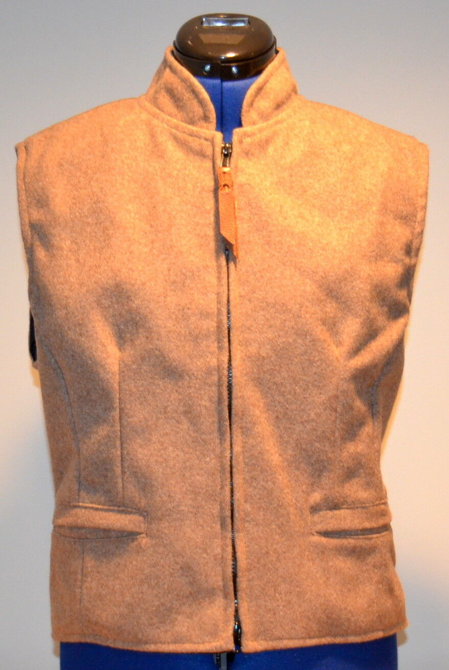 SCHAEFER Outfitter Cheyenne Ranchwear Women's Vest (Taupe) Medium Made in USA