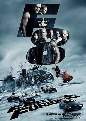 FAST AND FURIOUS 8 POSTER Fate Photo Print Pic Wall Art Poster A3 A4