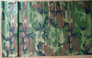 Details about 1 Yard Woodland Camo Print Hunting Rain Poncho Fabric Outdoor  Sports Material