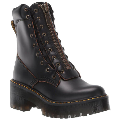 Dr.Martens Karmilla Vintage Smooth Leather Ankle Lace-Up Zip-Up Womens Boots