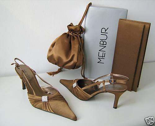 Menbur noche zapato 37 pumps Mule marrón bronce talla 37 zapato zapatos marrón af92a6