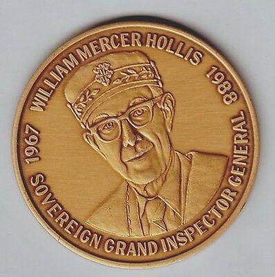 # 6596c Florida Scottish Rite Bronze Medal, William M. Hollis 1991 Hooggeprezen En Gewaardeerd Worden Door Het Consumerende Publiek