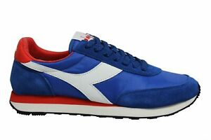 Diadora-Heritage-Koala-Blue-Leather-Low-Lace-Up-Mens-Running-Trainers-C4396
