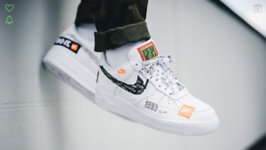 Nike Air Force 1 07 PRM JDI GS Just Do It White Black AO3977-100 Authentic
