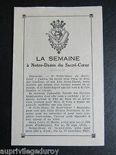 La SEMAINE à NOTRE-DAME du SACRE-COEUR, 1934.