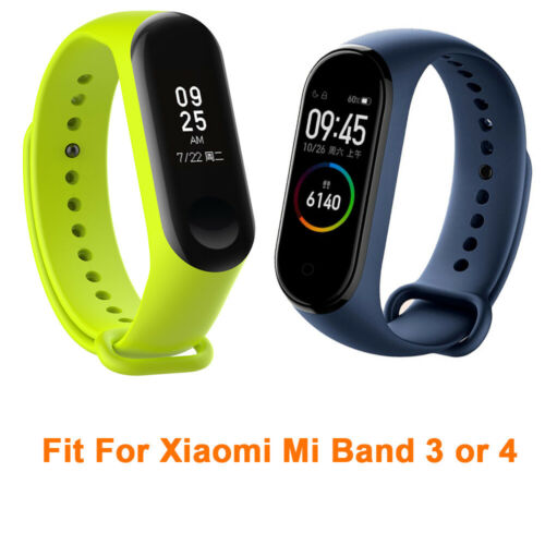 For Xiaomi Mi Band 4 Replacement Silicon Wristband Wrist Band Strap Bracelet UK