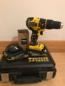 Details about STANLEY FATMAX FMC628 FMC628D2K BRUSHLESS 18V LI-ION DRILL  WITH 2 BATTERIES 2AH