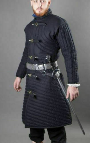 Medieval Thick Padded Gambeson suit of armor quilted costumes theater larp BBX