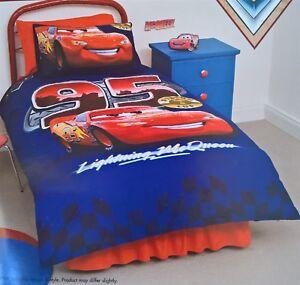 Image Is Loading Disney Cars Lightning Mcqueen Single Bed Quilt Doona