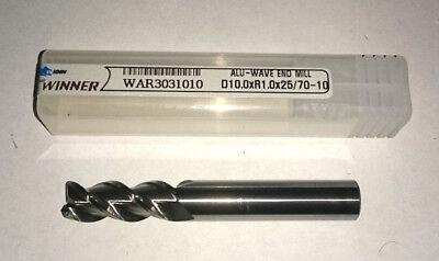 Widin cordolo esterno End Mill Taglio Solido Carburo di 10 mm 1 mm Rad WAR3031010 Alu-Wave