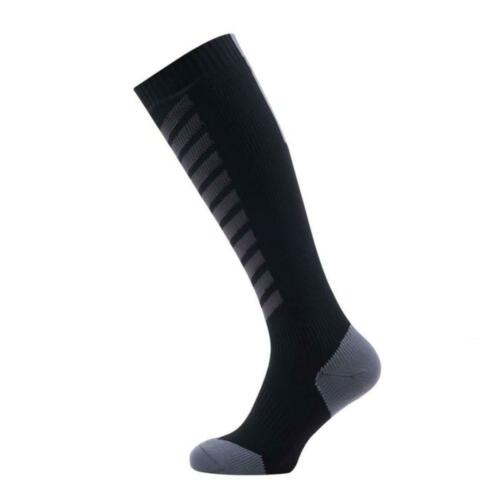 Seal Skinz Waterproof Cold Weather Knee Length Sock Large  Navy Blue//Red Large
