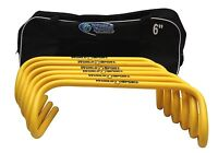 World Sport Set Of Six 6 Inch Agility Hurdles With Carry Bag