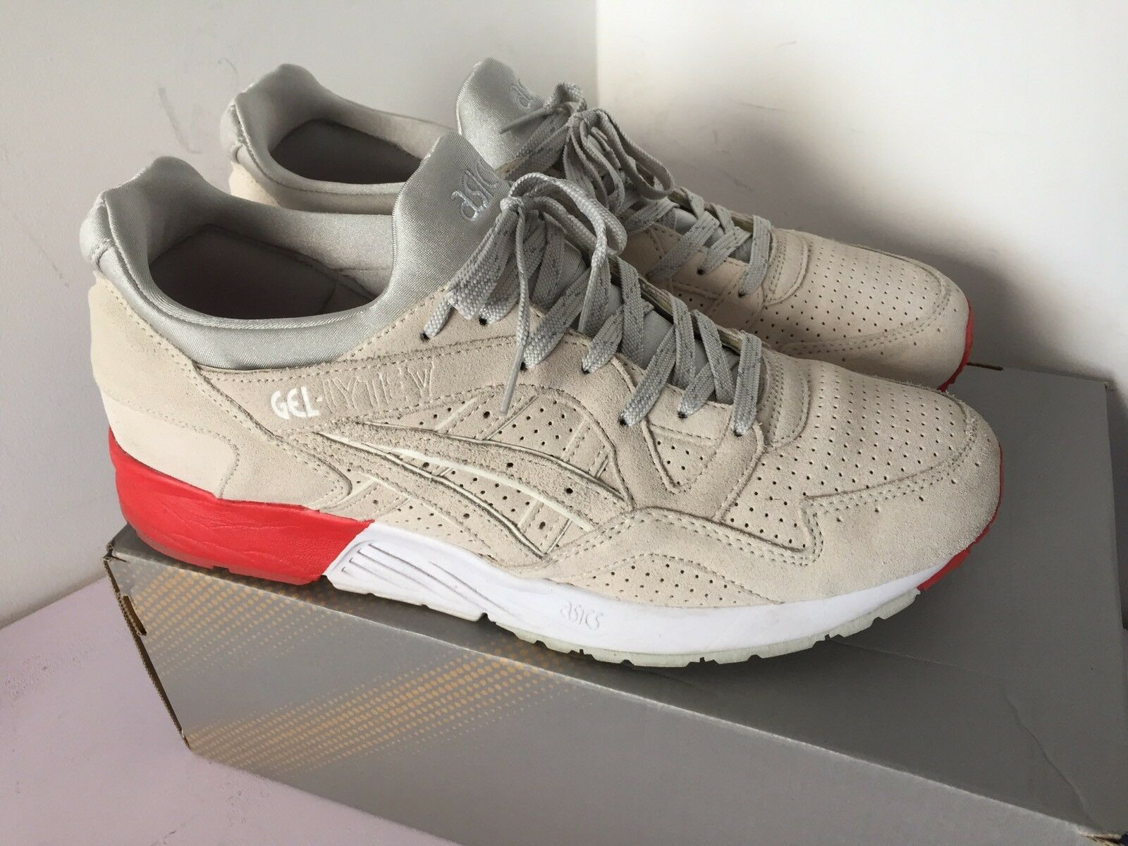 "Concepts Off x Asics Gel-Lyte V ""8 Ball"" H40FK-9998 Blow Off Concepts Blanco Cream Cncpts US11 1102af"
