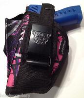 Amt Backup 380 | Muddy Girl Nylon Gun Holster Pink Purple Camo Use L Or R Hnd
