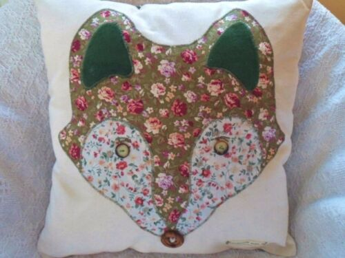 Fox Cushion Kit Patchwork Cushion Craft Sewing Kit Foxy Cushion By Sewintocrafts