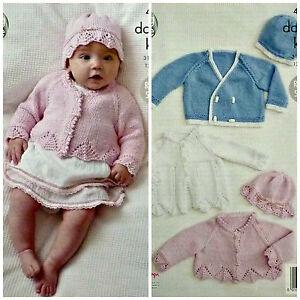 3e6e1f0d1 KNITTING PATTERN Baby Lace Edge Cardigan Coat Jacket   Hats ...