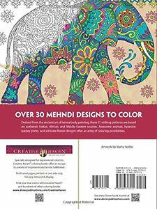 image is loading creative haven mehndi animal designs patterns dover coloring - Dover Coloring Books For Adults