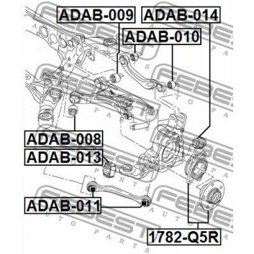 FEBEST Bush control arm mounting ADAB-014