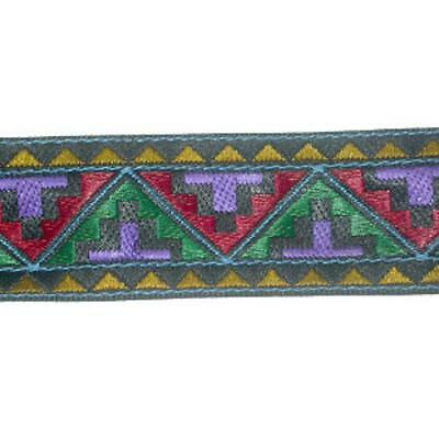"1.1/8""(28mm) Aztec Style Jacquard Ribbon Trim x 1 yd"