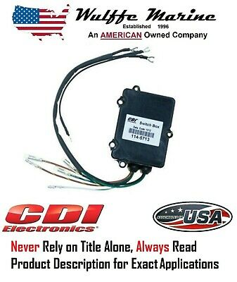 855713A4 114-5713 Mercury Outboard Switch Box 1997-2005 2cyl 855713A3 C117