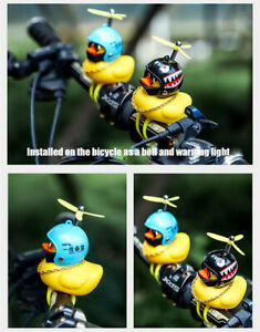Yellow Duck Bicycle bell Luminous Normal Air screw Helmet Duck Cycling Lights