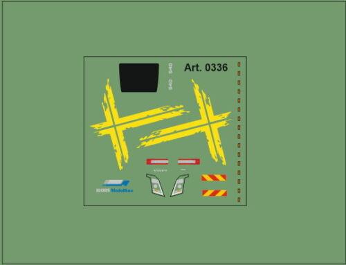 HO//1:87 DIS0336 Volvo Schwedenkreuzdekor für  Flachdach FH Decal für ZGM gelb