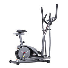 2-in-1 Elliptical Trainer and Fitness Bike - Hybrid by Body Champ