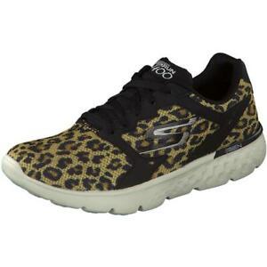 Details zu Skechers Go Run 400 Feline Damen Sportschuh Sneaker BlackNatural Leo Gr 36 41