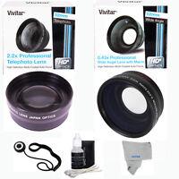 Nikon D90 D80 D60 D40 D5300 3 Lenses Telephoto +wide Angle + Macro