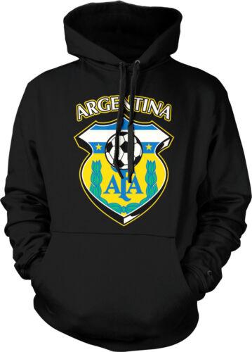Argentina World Cup Soccer Flag Crest Argentine Pride Mens Hoodie Sweatshirt
