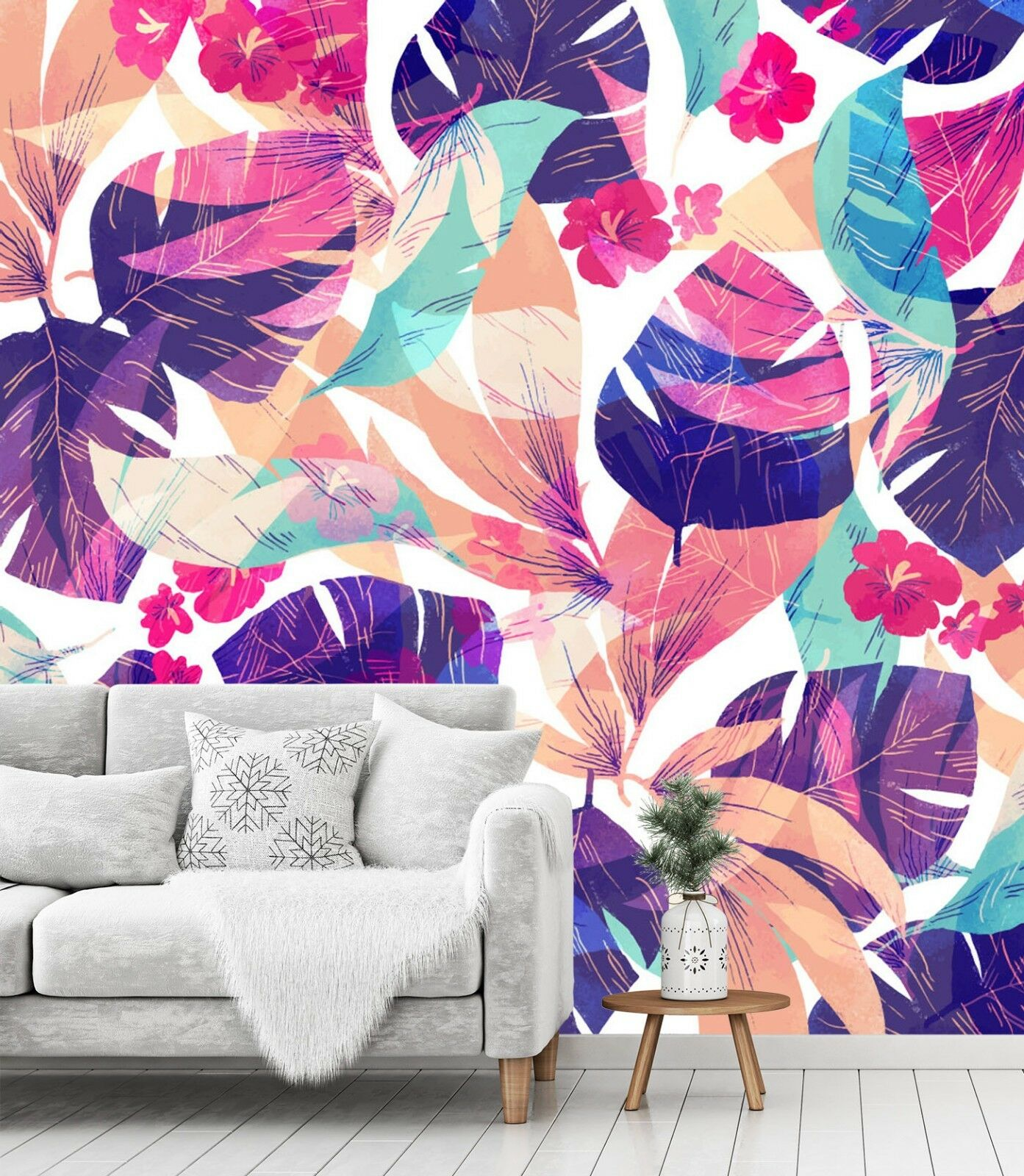 3D Red Purple 782 Wall Paper Print Wall Decal Deco Indoor Wall Murals US Summer