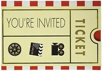 Invitation Card: Movie Ticket, Party-theme Supplies Stationary Costumes