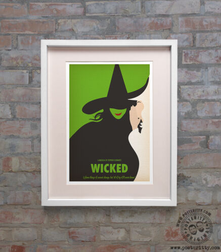 WICKED Minimalist Musical Poster Minimal Print by Posteritty Art Witch Oz