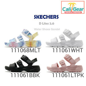 Skechers-D-Lites-2-0-Style-Icon-Flower-Child-Women-Water-Shoes-Sandal-Pick-1
